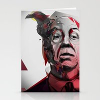 hitchcock Stationery Cards featuring Alfred Hitchcock by yoaz