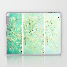 Vincent Van Gogh Almond Blossoms Panel art Aqua Green Laptop & iPad Skin