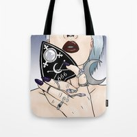 ouija Tote Bags featuring Ouija by SS-Creative