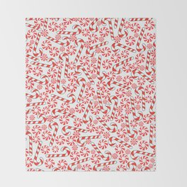 Cute Candy Holiday Pattern Throw Blanket