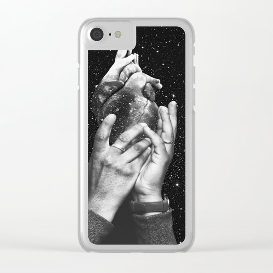 Heart says hold on Clear iPhone Case