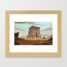Last checkpoint Framed Art Print