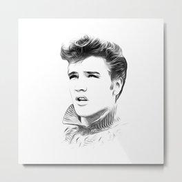 Elvis Presley - Rock n Roll - Pop Art Metal Print