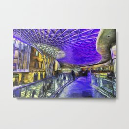 Kings Cross Station London Art Metal Print