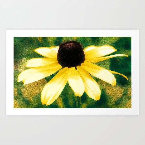 Vibrant Yellow Coneflower Art Print