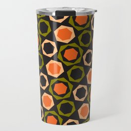 Geometric Pattern 161 (orange hexagons) Travel Mug