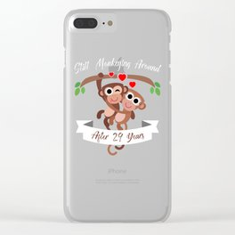 monkeyanniv 29 Clear iPhone Case