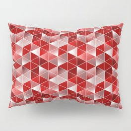 Ruby Red Optics Triangles Pattern Pillow Sham