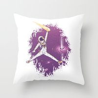 space jam Throw Pillows featuring Space Jam by Made With Awesome