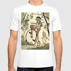 Morning Ride Mens Fitted Tee White MEDIUM
