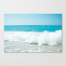 Minimal turquoise ionian wave - Porto Katsiki beach Canvas Print