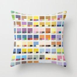 Poke-Pantone 1 (Kanto Region) Throw Pillow