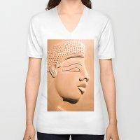 egyptian V-neck T-shirts featuring Egyptian Beauty by Brian Raggatt