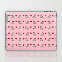 Pekingese hearts love dog breed dog mom gifts for unique dog pure breed owners Laptop & iPad Skin