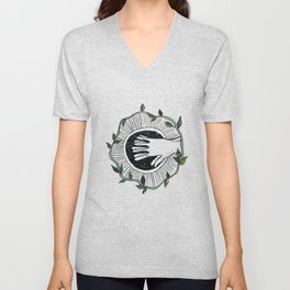 Eye wide opened Unisex V-Neck