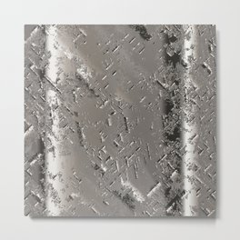Silver Steel Abstract Metal Background Metal Print