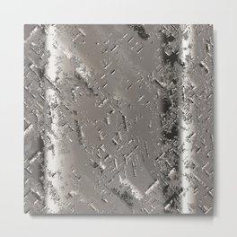 Silver Steel Abstract Metal Background Metal Print