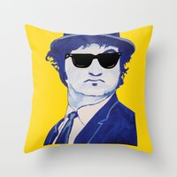 snl Throw Pillows featuring Jake Blues 1 by Kramcox