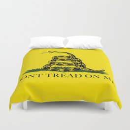 Don't Tread On Me Gadsden Flag Duvet Cover