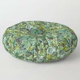 Leafage Green Foliage Photo Pattern Floor Pillow