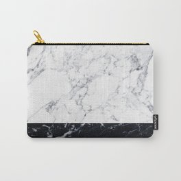 Marble Black & White Carry-All Pouch
