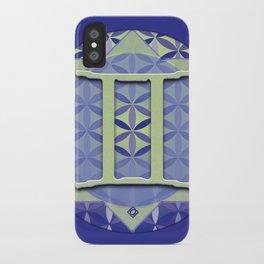 Flower of Life GEMINI Astrology Design iPhone Case