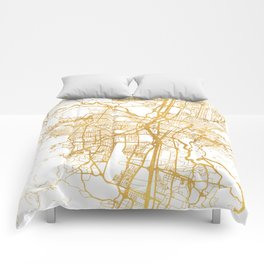 MEDELLÍN COLOMBIA CITY STREET MAP ART Comforters