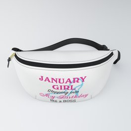 January Girl Birthday Fanny Pack