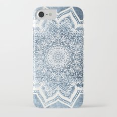 BLUEISH SEA FLOWER MANDALA iPhone 7 Slim Case