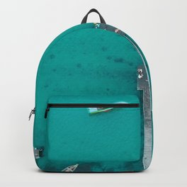 boats in the pier Backpack
