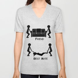 Best Friend Male Unisex V-Neck