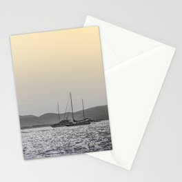Nautical Travel Photography, Digital Color Nature Ocean Sea Sky Boats Harbor Sailing Europe Sun Stationery Cards