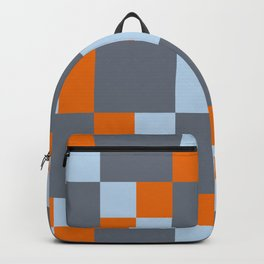 3D Patchwork Pattern Backpack