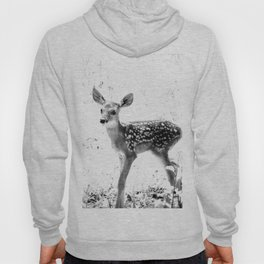 The Sweetest fawn Black & White Hoody