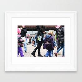 Children at the Women's March Framed Art Print