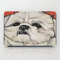 shih tzu iPad Cases featuring Waffles the Shih Tzu by Cheney Beshara
