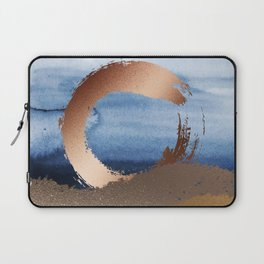 Inspiration: Gold, Copper And Blue Laptop Sleeve