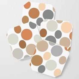 Earth Tone Circlular Abstract Coaster
