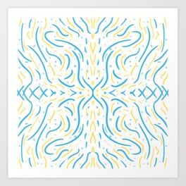 Symmetry Lines Summer Afternoon Art Print