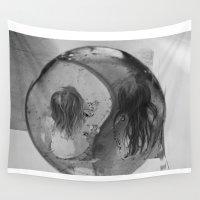 ying yang Wall Tapestries featuring Ying Yang by MarianneVidal