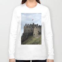 edinburgh Long Sleeve T-shirts featuring Edinburgh Castle by RMK Photography