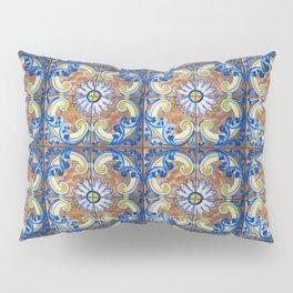 Vintage Italian Majolica Tiles Pillow Sham