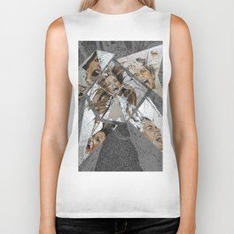 Happiness Shattered Biker Tank