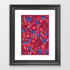 Red Moon Garden Framed Art Print