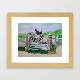 Show Horse Framed Art Print