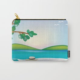 St. John, Virgin Islands - Skyline Illustration by Loose Petal Carry-All Pouch