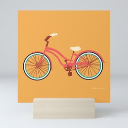 Cruiser Bike: Island sunset Mini Art Print
