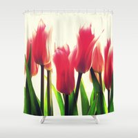 tulips Shower Curtains featuring Tulips by 2sweet4words Designs