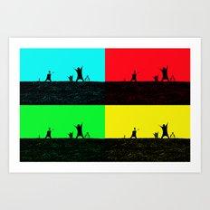 Pop Art Cricket Art Print