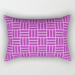 Basketweave (White & Purple Pattern) Rectangular Pillow